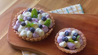 블루베리 크림치즈 타르트 만들기 (blueberry c…