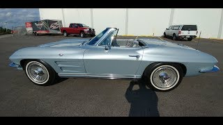 Satin Silver 1964 Corvette Stingray Convertible Walk Around