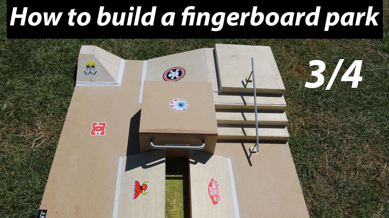 HOW TO BUILD A FINGERBOARD PARK TUTORIAL 34  YouTube