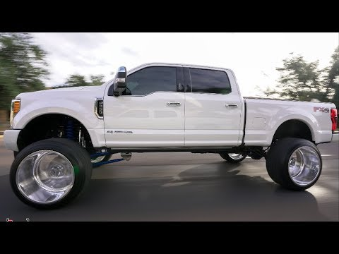 HOW A 2017 F250 PLATINUM IS BUILT! 8 INCH CHROME LIFT ON 26X16 FROM START TO FINISH!!!! - YouTube