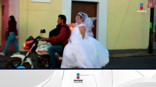 Le dan aventón a una novia para llegue a su boda | Qué Importa