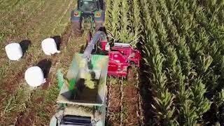 Making Maize silage in one pass with the  Agronic 820 Multibaler