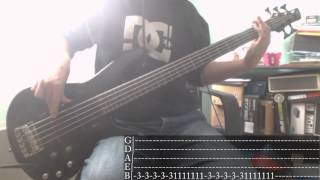 Nu Metal's week - 05 - Papa Roach - Between Angels And Insects [Bass Cover + Tab]