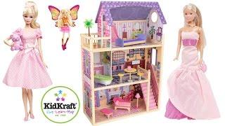 Домик для кукол Трехэтажный с мебелью Играем куклами Игровой набор Kidkraft Kayla Dollhouse