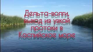 Выход из узкой протоки в Каспийское море