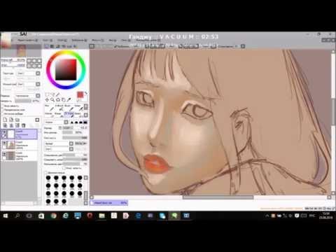 Speedpaint Hinata (Naruto) Easy Paint Tool Sai