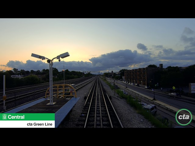 CTA's Ride the Rails: Green Line to Ashland & Cottage Grove Real-time (2019)