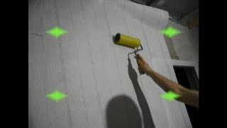 █ Как производится поклейка флизелиновых обоев под покраску.(Ремонт. Поклейка флизелиновых обоев под покраску., 2013-12-27T12:52:55.000Z)