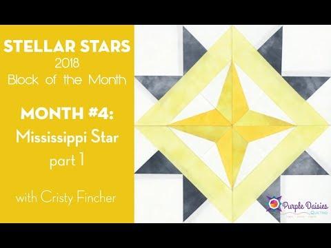 Stellar Stars BOM - Mississippi Star block part 1