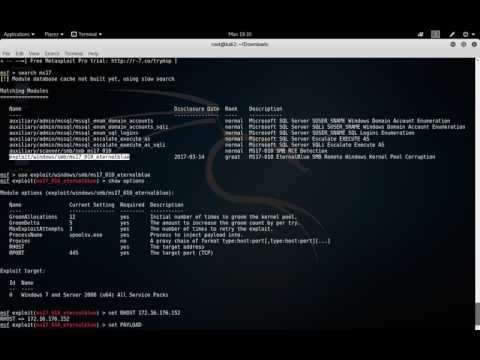 Exploiting ms17_010 with Metasploit