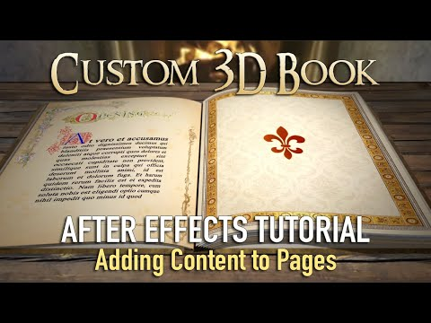3D Book - After Effects Tutorial (Filling Pages)