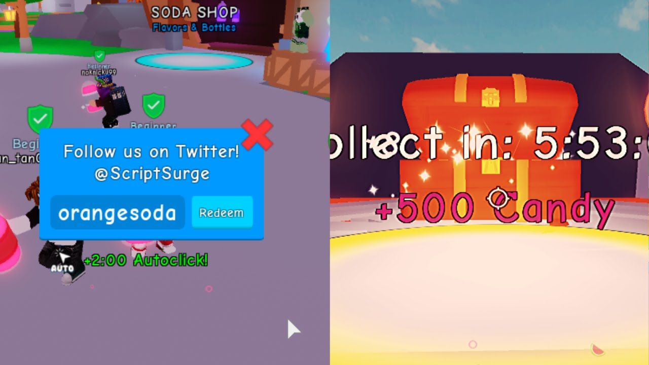 New Ranks Soda Simulator Autoclick Code Youtube