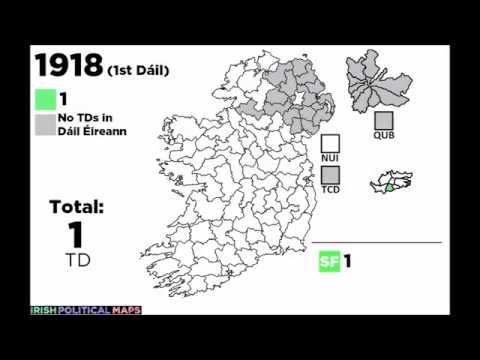 Irish Political Maps: Female TDs in the Dáil, 1918 - 2016
