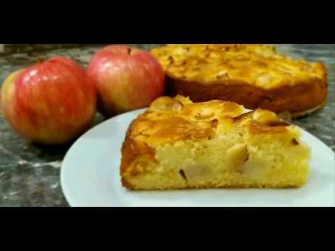 Пирог с яблоками вкуснее Шарлотки! Простой вкусный заливной пирог!