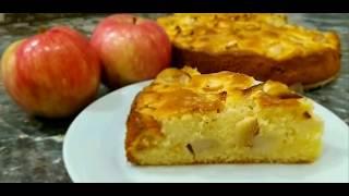 Пирог с яблоками вкуснее Шарлотки! Простой вкусный рецепт!