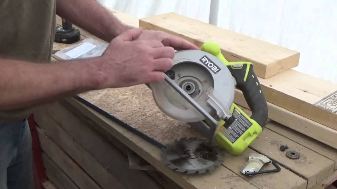 Change the blade on a circular saw my ryobi cordless saw gets change the blade on a circular saw my ryobi cordless saw gets new life youtube greentooth Images