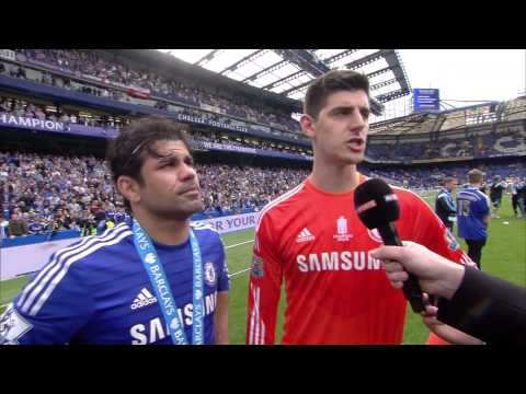 Deigo Costa and Thibaut Courtois, Interview 14/15 League Champions