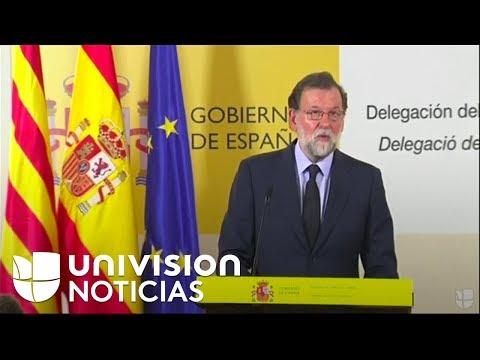 El presidente Mariano Rajoy sobre el atentado en Barcelona