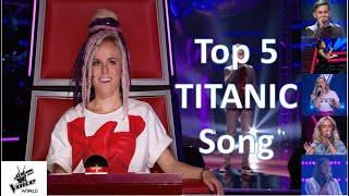 Best 5 of My Heart Will Go On   The Voice  