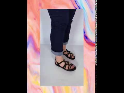 HALA sandália - preto (vegan)