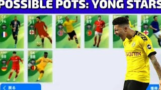 POSSIBLE POTS: YONG STARS COMING SOON IN PES 2020 MOBILE | PLAYERS MAX LAVEL RATINGS PES 2020 MOBILE