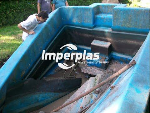 Reparacion increible de piscina de fibra de vidrio youtube - Piscinas de fibra ...
