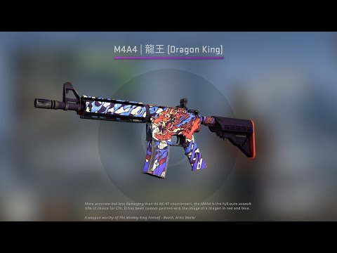 M4A4 | 龍王 Dragon King (Minimal Wear) Ace
