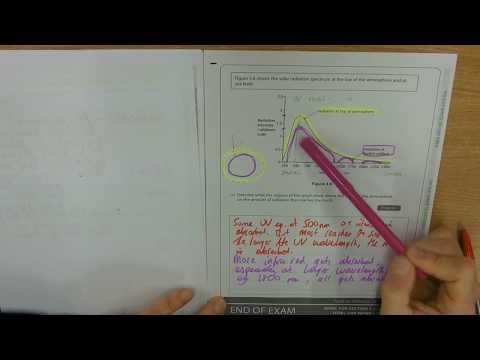 Q13 Solar radiation spectrum MODEL ANSWER