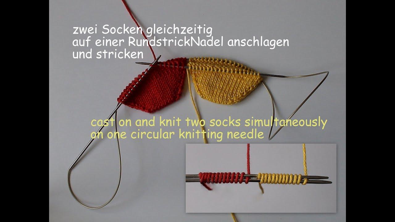 Socken stricken mit rundstricknadel