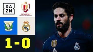 Real im Pokal weiter trotz Niederlage: Leganes - Real Madrid 1:0 | Copa del Rey | DAZN Highlights