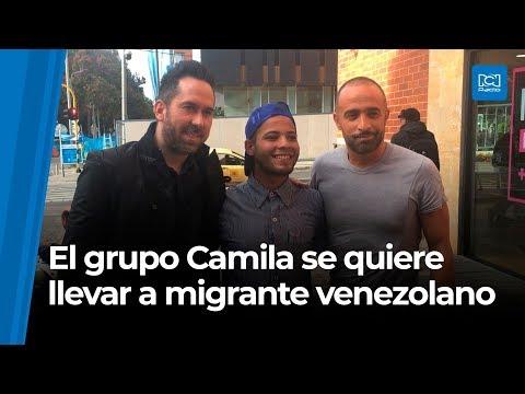 La Gitana - Camila oye a un joven Venezolano y lo invita a grabar con ellos!