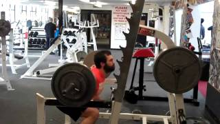 Mark Palombi, squatting at MASS Pound for Pound Strength Competition.