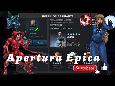 Apertura De Cristales Stangel 6 Y 5 Estrellas Mcoc Marvel Batalla De Superheroes Youtube