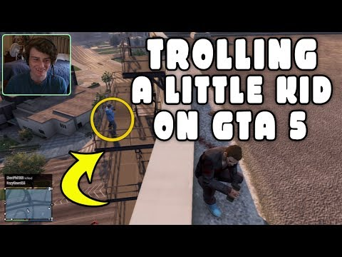 Thumbnail: GTA 5 ONLINE - TROLLING Little Kids on GTA 5 (Funny Deaths & Kills!)