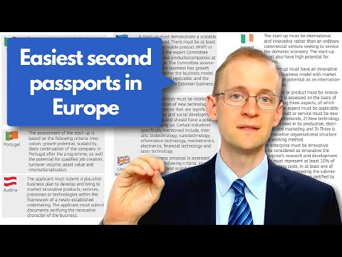Easiest second passports in Europe 🇪🇺 (entrepreneur visa processing times) ⏳