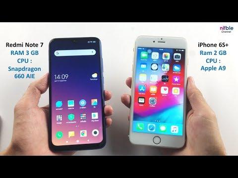 Redmi Note 7 VS IPhone 6S+ ลองเทียบ! ความเร็ว CPU RAM (SpeedTest)