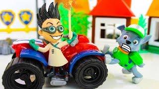 Щенячий патруль новые серии Рокки и Ромео Развивающие мультики про машинки игрушки Герои в масках