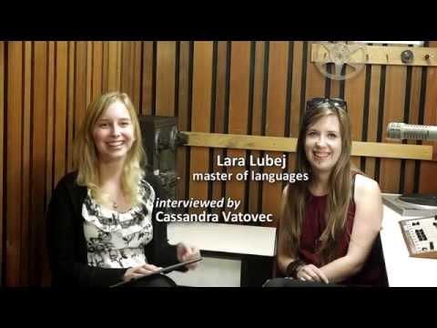 Klara Lubej - master of languages