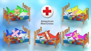 Five Little Babies Jumping on the Bed Song - Kids Video and Baby Song with Little Sharks