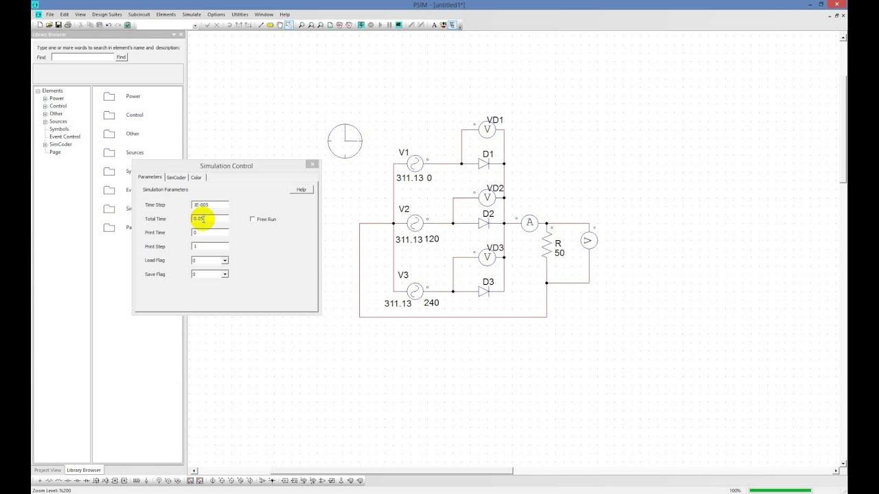 Circuito Retificador : Circuito retificador ideal não controlado trifásico