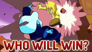 yellow diamond vs blue diamond why are they fighting battle of heart and mind theory