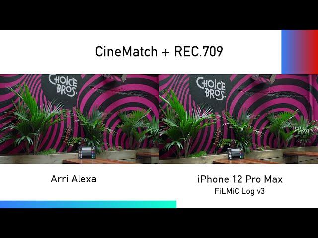 Matching an iPhone to an ARRI Alexa