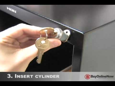 how to install file cabinet lock - youtube