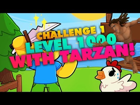 [Roblox] Egg Farm Simulator: LEVEL 1000 WITH ONLY TARZAN (CHALLENGE 1)