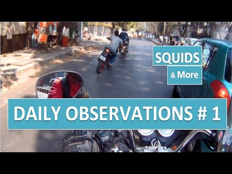 PUNE | Daily Observations # 1 | SQUIDS | TRAFFIC VIOLATIONS