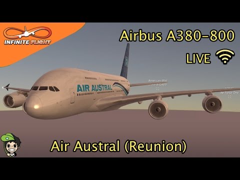 【Episode 11】Infinite Flight Live - *New Updated* Air Austral Reunion Airbus A380 | ChhaingStudios