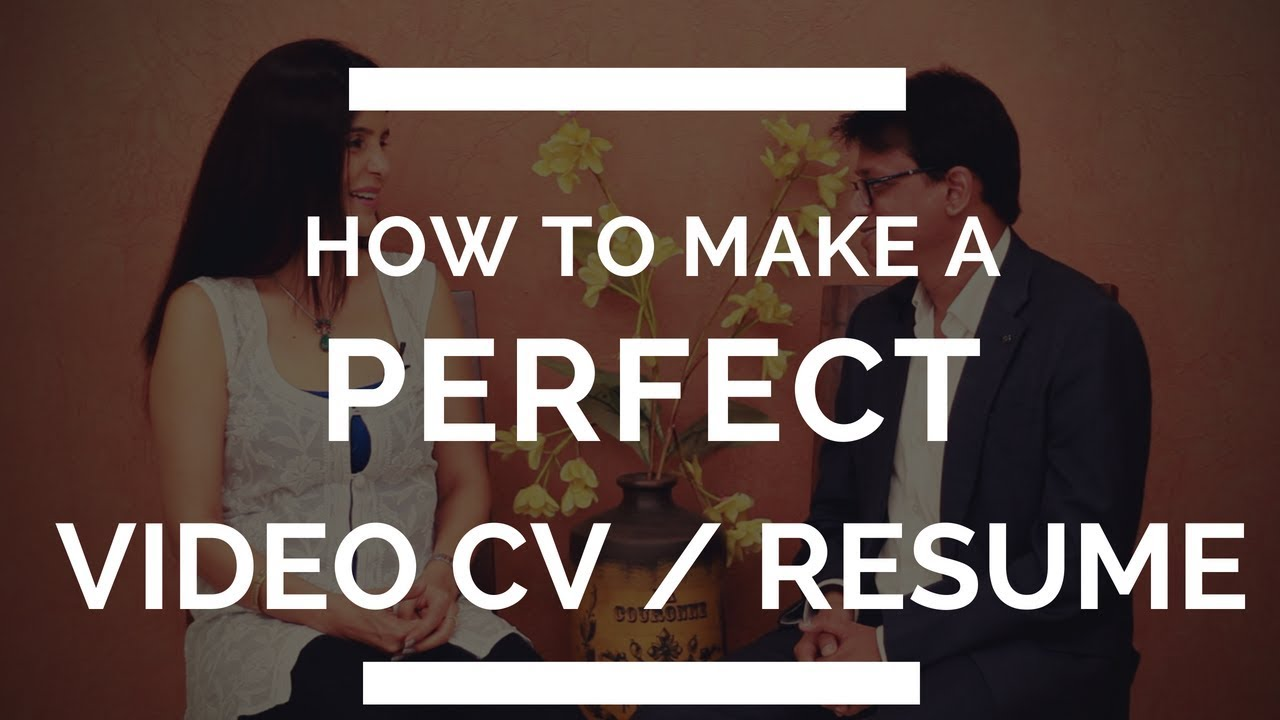How To Make A Perfect Video Resume / CV for Students | ChetChat