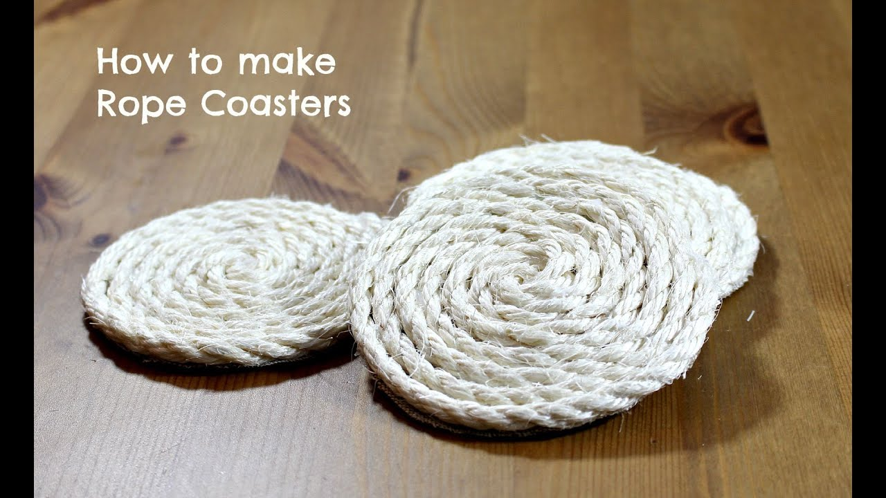 How To Make Rope Coasters Youtube