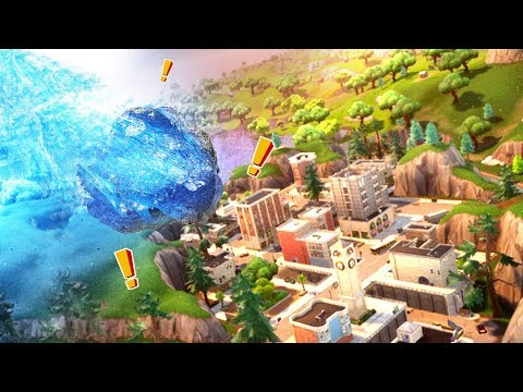 A GIANT COMET IS GOING TO DESTROY TILTED TOWERS - Fortnite: Battle Royale