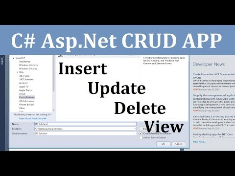 Create, Read, Update and Delete Data Operation Using Entity Framework(CRUD Operation)